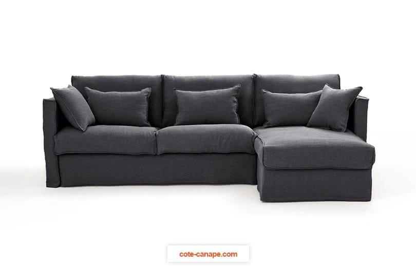 Canapé d'angle CAMILLLE en lin froissé de AMPM