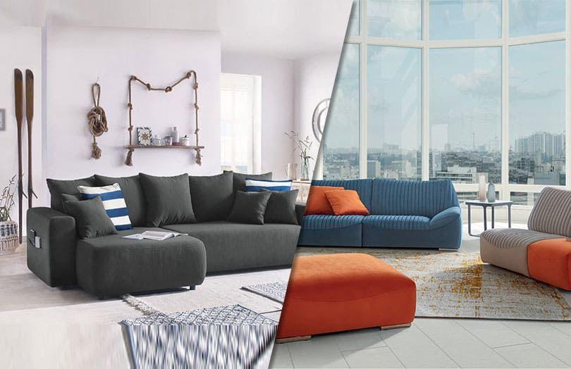 Placer 2 canapés simples ou un grand canapé d'angle