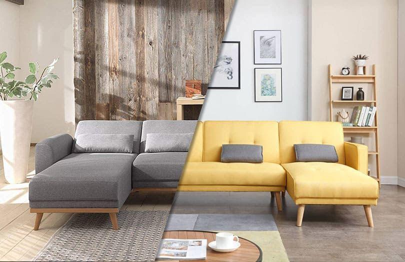 Assembler 2 canapés d'angle dans un salon