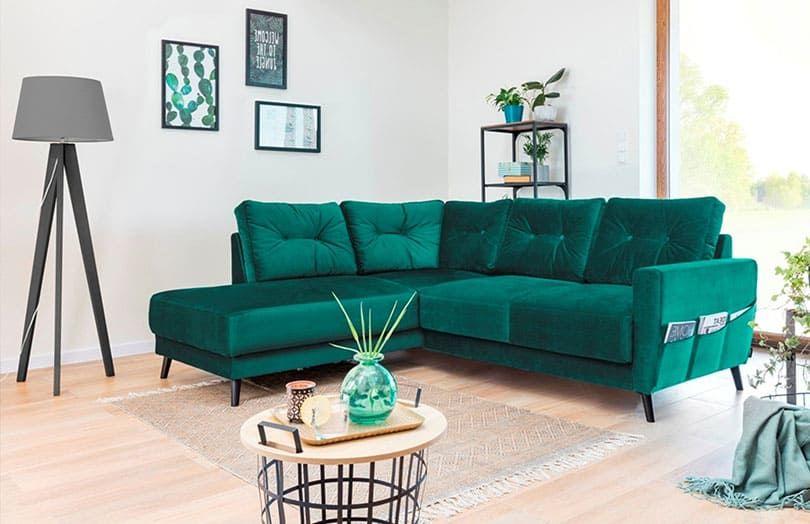 canapé d'angle 6 places