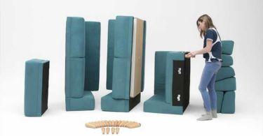 monter et démonter un canapé d'angle