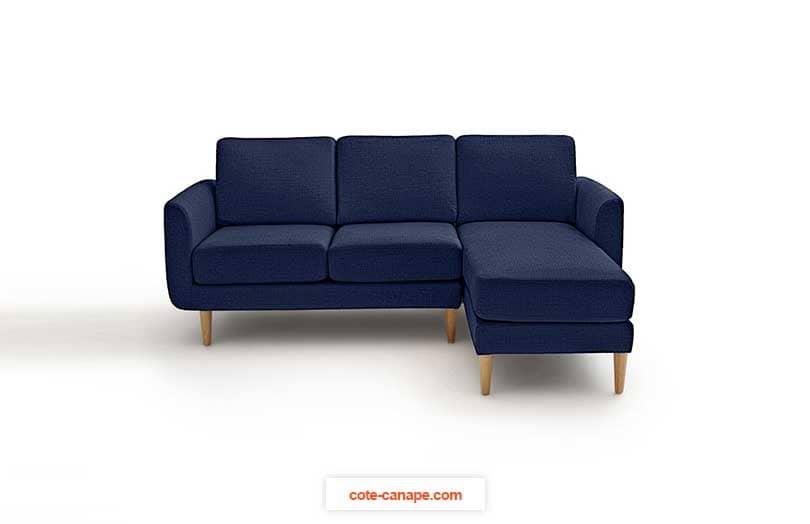 Petit canapé d'angle bleu nuit La redoute
